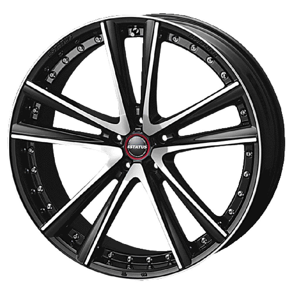ESTATUS Style-652(エステイタス スタイル652)20インチ-8.5J インセット45・5H/114.3「ブラックミラーフィニッシュ」1本 アルミホイール wheel