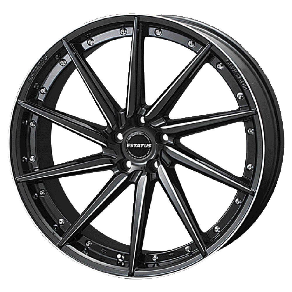 ESTATUS Style-607(エステイタス スタイル607)22インチ-8.5J インセット35・5H/114.3「ブラックサイドマシニング」1本 アルミホイール wheel