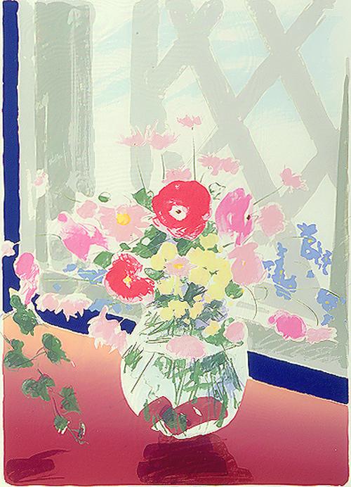 絵画 版画(銅版画・リトグラフ・木版画・シルクスクリーン版画) レリーフ オブジェ 書など、現代アートの専門サイト 版画/シルクスクリ-ン 福本吉秀 In the sunshine