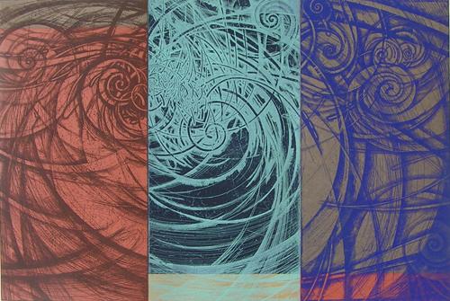 絵画 版画(銅版画・リトグラフ・木版画・シルクスクリーン版画) レリーフ オブジェ 書など、現代アートの専門サイト 版画/銅版画 林孝彦 2007-風巣-4