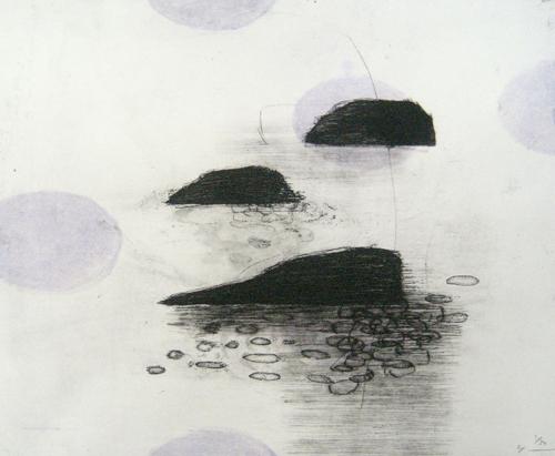 版画/銅版画 原陽子 島#5