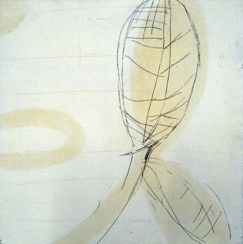 版画/銅版画 原陽子 葉脈