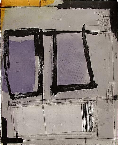 版画/銅版画 原陽子 鍵のかかった部屋#2