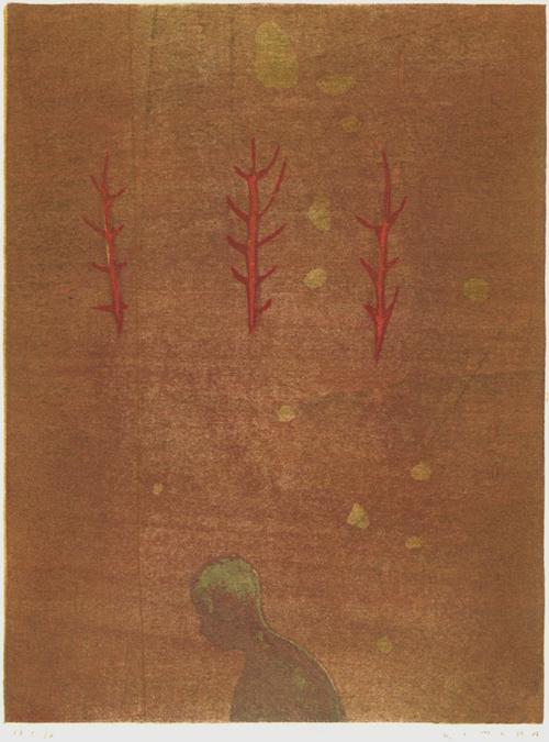 絵画 版画(銅版画・リトグラフ・木版画・シルクスクリーン版画) レリーフ オブジェ 書など、現代アートの専門サイト 版画/木版画 木村繁之 声を聴く