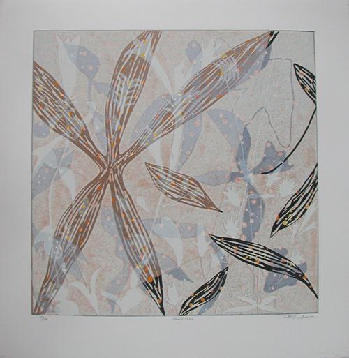 絵画 版画(銅版画・リトグラフ・木版画・シルクスクリーン版画) レリーフ オブジェ 書など、現代アートの専門サイト 版画/リノカット 白駒一樹 Fossil-12L