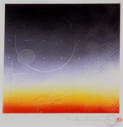 版画/銅版画+手彩色 とくだあきら View'13-P1BRS