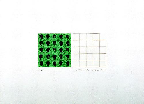 版画/シルクスクリ-ン 坪田政彦 描・線-緑