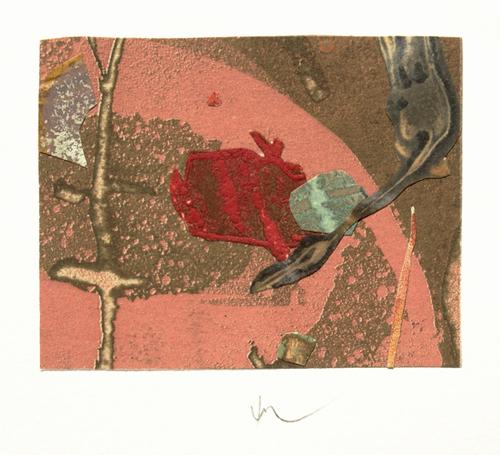 絵画 版画(銅版画・リトグラフ・木版画・シルクスクリーン版画) レリーフ オブジェ 書など、現代アートの専門サイト 版画/銅版画+コラージュ 山本正文 枯木-2