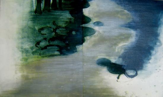 版画/エッチング・アクアチント 原陽子 そこは河口にほど近く広くゆっくりとよどみ-2