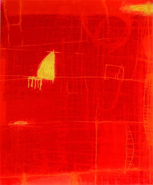 絵画 版画(銅版画・リトグラフ・木版画・シルクスクリーン版画) レリーフ オブジェ 書など、現代アートの専門サイト 版画/銅版画 原陽子 境目の風景#5
