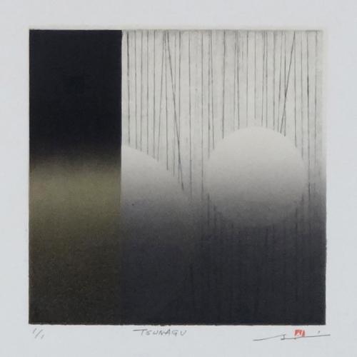 版画/リトグラフ・ドライポイント 鳴海伸一 TSUNAGU 175-01
