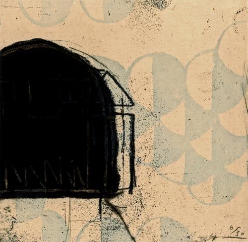 版画/銅版画 原陽子 鏡の風景-3