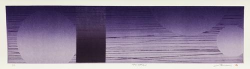絵画 版画(銅版画・リトグラフ・木版画・シルクスクリーン版画) レリーフ オブジェ 書など、現代アートの専門サイト 版画/リトグラフ・ドライポイント 鳴海伸一 TSUNAGU_パープル_4
