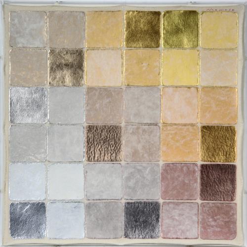 絵画/ミクストメディア 百瀬寿 NE.Diagonal Aluminum to Gold by Magenta