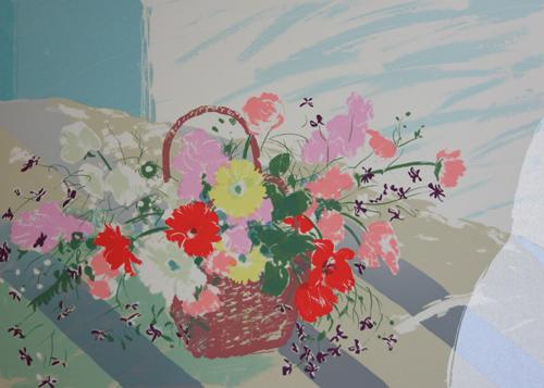 絵画 版画(銅版画・リトグラフ・木版画・シルクスクリーン版画) レリーフ オブジェ 書など、現代アートの専門サイト 版画/シルクスクリ-ン 福本吉秀 Fine weather