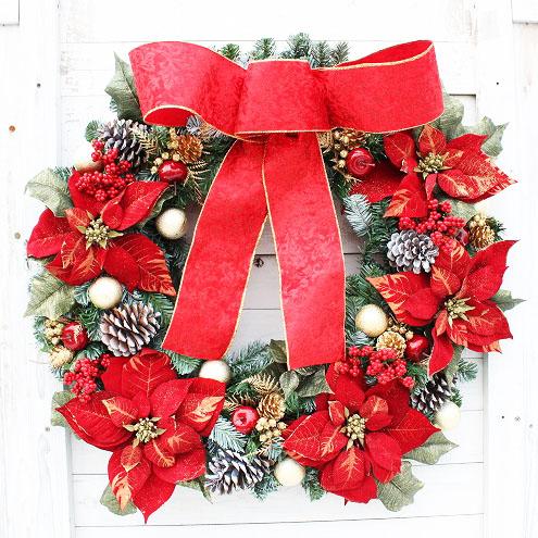 特大 クリスマスリース 大きい 玄関 直径約70cm 【送料無料】