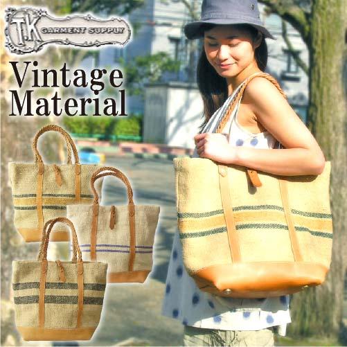 【クーポンで350円OFF!】 【T.K. Garment Supply】グレインサックスタンダードトートバッグ ハンドメイド 日本製