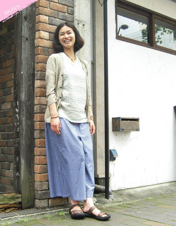 / Lady's /FL-112/ リゲッタ /fs3gm which Canoe canoe field natural belt sandals / knitting includes