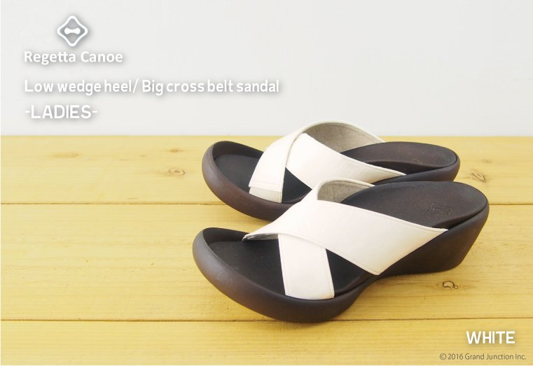 Canoe canoe wedge sole cross sandals / Lady's /WH107/ リゲッタ /fs3gm