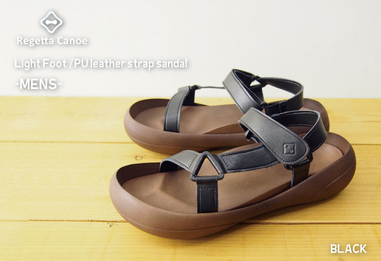 Canoe カヌーライトソール Sandals-PU leather strap / mens / Womens / made in Japan /CL182 / regatta