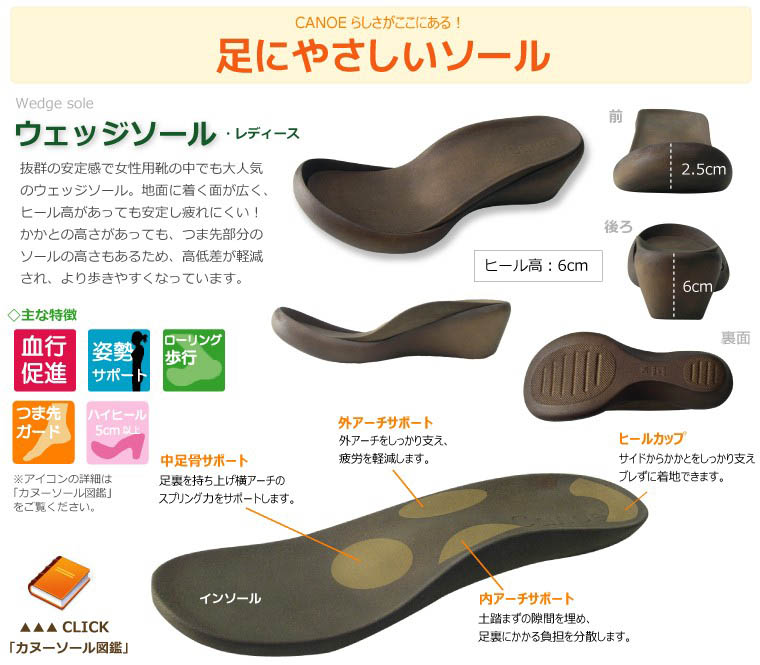 Canoe/ canoe sandals / wedge sole / enamel double Velcro sandals / Lady's /WH110/ リゲッタ /fs3gm