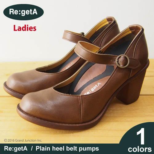 Regeta plain her belt pumps /SCR1301 / canoe