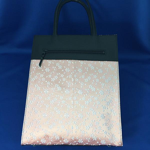 西陣織 本革 トートバッグ L (京一単) tote bag 約32×26×11cm 雅な柄に和装でもカジュアルでも使えるアイテム