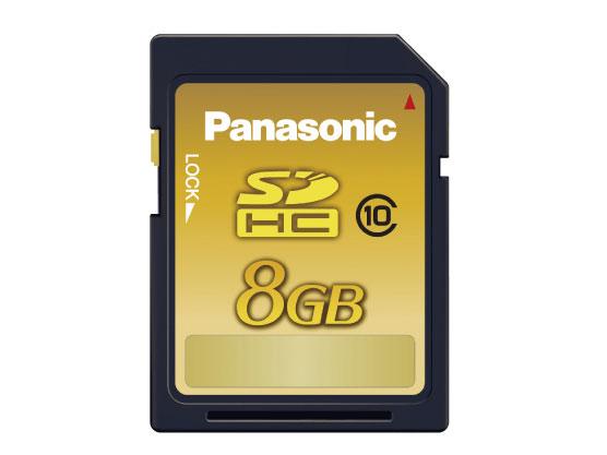 豪華な  8GB SDHCメモリーカード CLASS10 Panasonic 代引き不可 RP-SDWA08GJK パナソニック 爆買いセール メール便送料無料