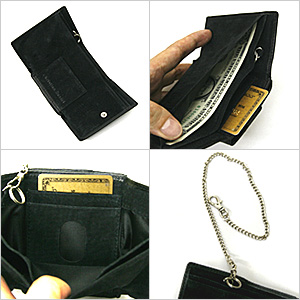 Wallet black black ChristianDaniel Christian Daniel wallet saifu wallet ☆ l-262 very small for three wallet short wallet book cowhide fold☆