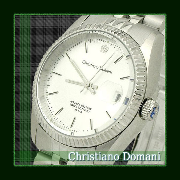 Men's watches and brand ChristianoDomani Christiano Domaine / Clock for men watch stainless steel men's outlet down clock silver CD4070-1 y-0001 ☆ ☆
