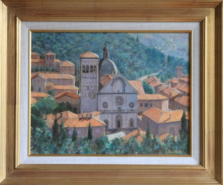 「サンルフィーノ大聖堂」 6号 絵画  白鳥昌