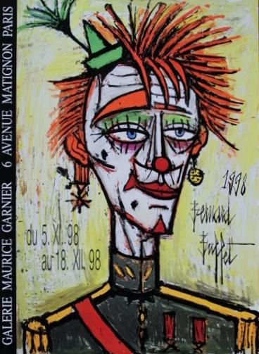 ポスター ベルナールビュッフェ  ビュッフェ展1998年パリ・ガルニエ画廊のオリジナルポスター