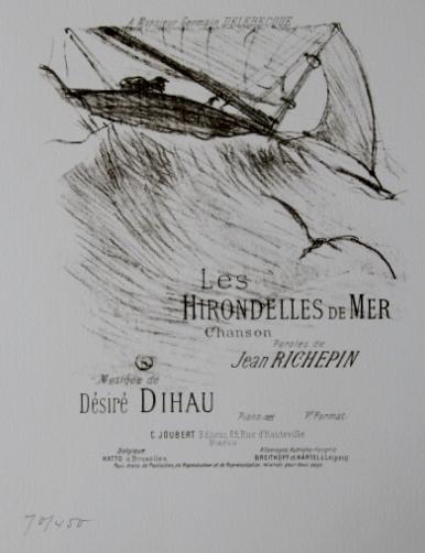 版画 ロートレック hirondelles de mer 海ツバメ 1978年 オリジナルリトグラフ