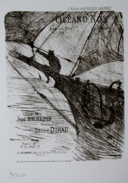 版画 ロートレック ocean nox オーシャン ノック1978年 オリジナルリトグラフ