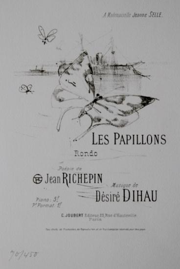 版画 ロートレック Les Papillons 蝶1978年 オリジナルリトグラフ
