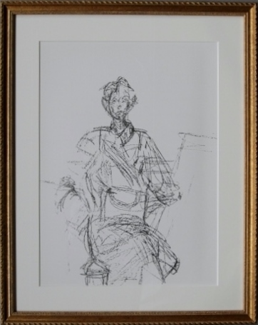 版画 アルベルト ジャコメッティ アトリエのアネットミロワール 1961年 No.127 オリジナルリトグラフ
