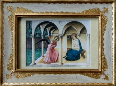 絵画 フラアンジェリコ 受胎告知 現地仕入れ Beato Angelico stampe piccole