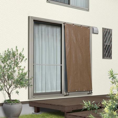 窓の種類にあわせて選ぶ シェードブラインド 0.88m×1.8m CSB-18M2 0.88×1.8 5☆好評 訳ありセール 格安 日よけ タカショー モカ