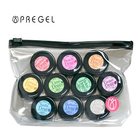 PREGEL (プリジェル) カラーEx ジェルネイル カラージェル ドロップシリーズ 10色セット (全色セット) 【ネコポス対応】