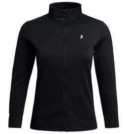 あす楽 レディース シンプルなシルエット PeakPerformance ピークパフォーマンス Women's 定番 Black ジャケット 国際ブランド Turf Zip