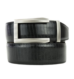 Premium Dress Belt 2.0 Lizard Black ラチェット式ベルト