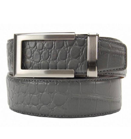 Premium Dress Belt Alligator Grey ラチェット式ベルト