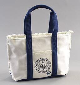 W SMILEY ダブルスマイリー WS18004 Smile Mini Tote Bag ミニトートバッグ White/Navy