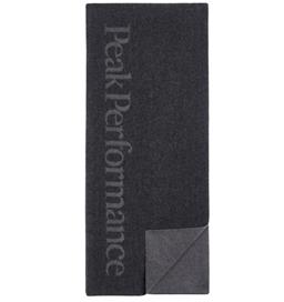 あす楽 ウール素材のスカーフ PeakPerformance ピークパフォーマンス Scarf お買得 Wool Black 卓抜