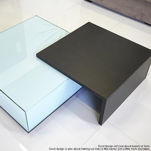照明付きガラステーブルEMIT-75【正方形】専用 木製オプションテーブル ※本体は含みません※木製テーブル単品