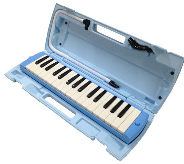 音階シール付 YAMAHA 記念日 ヤマハ P-32E 大好評です どれみシール 32鍵盤ピアニカ 鍵盤ハーモニカ ブルー 新モデル smtb-kd
