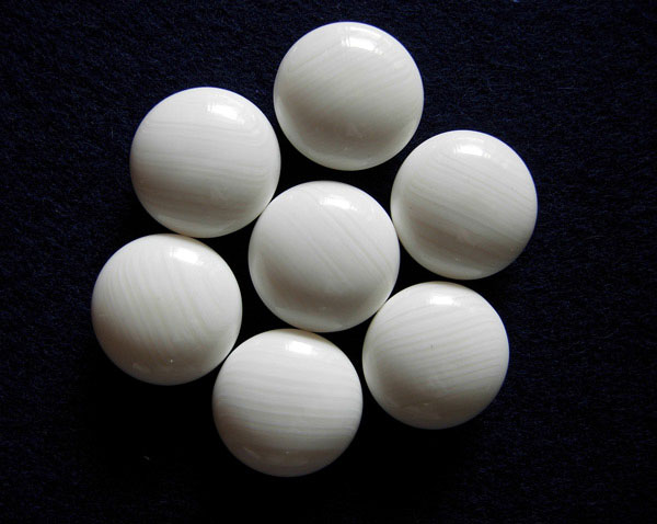 日向特製本蛤碁石 雪印40号 本那智黒石セット (厚さ11.3mm)格安蛤碁石/人気商品