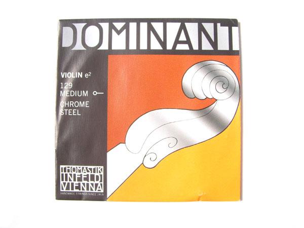 バイオリン弦 新着セール ドミナント E129 Dominant No.129 e2 今だけスーパーセール限定 E線1 ボールエンド トマスティック社 THOMASTIK smtb-kd クロームスチール 2