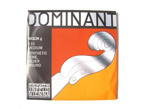 格安SALEスタート ご注文で当日配送 バイオリン弦 ドミナント G133 Dominant No.133 g G線 1 8+1 シルバー巻 THOMASTIK smtb-kd トマスティック社 10 ナイロン