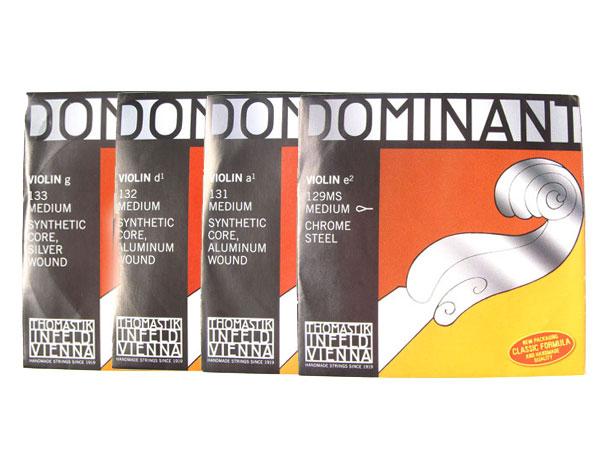 バイオリン弦 ドミナント EADG線セット E線 No.129MS クロムスチール ループエンド smtb-KD Dominant THOMASTIK トマスティック社 付与 4 最安値挑戦